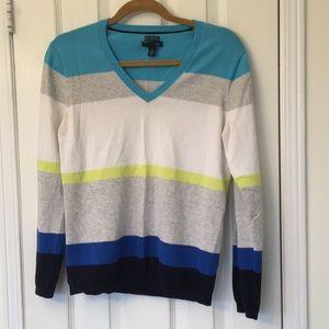 EUC Tommy Hilfiger v-neck Colour Block Sweater